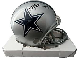 Dallas Cowboys Troy Aikman Autograph Signed Mini Helmet - Beckett BAS W COA