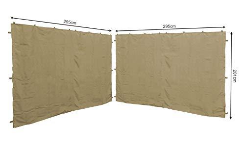 QUICK STAR 2 Seitenteile 295x201cm für Pavillon Roma 3x3m Seitenwand Sand