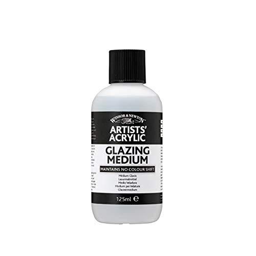 Winsor & Newton 3030934 Lasur - Malmittel, verleiht maximalen Glanz, Tranparenz für Acrylfarben - 125ml Flasche
