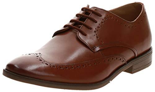 Clarks Stanford Limit, Scarpe Stringate Derby Uomo, Marrone (Tan Leather Tan Leather), 42 EU
