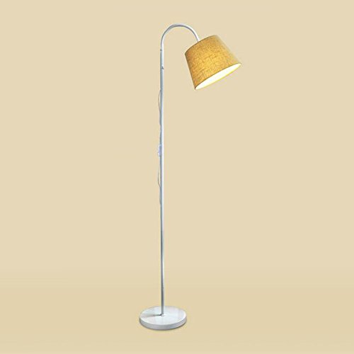 Vloerlamp Europese minimalistische smeedijzeren zwanenhals staande lamp verstelbare stof lampenkap staande lamp voor slaapkamer woonkamer studie, Φ23cm H178cm E27