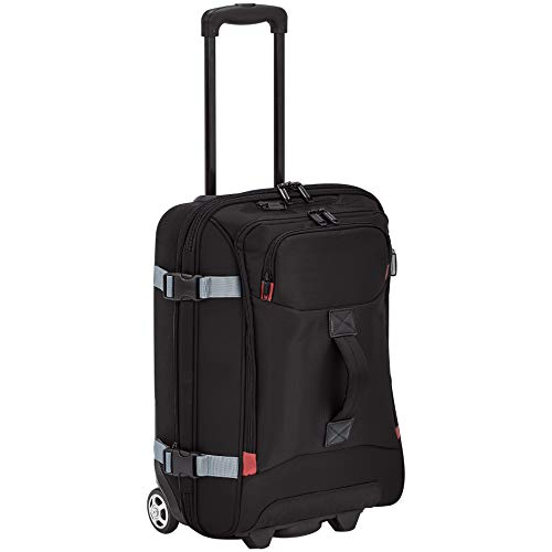 Amazon Basics - Bolsa de viaje con ruedas, pequeña, Negro