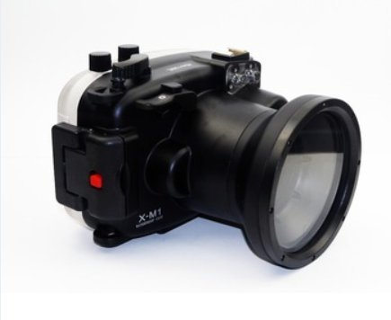 CameraPlus - High Performance Underwater Case Camera Housing Diving For Fujifilm X-M1 Can Be used with 16-50mm Lens Up To 40 Meters