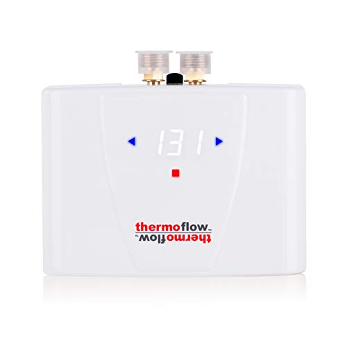 Thermoflow Electric Tankless Water Heater with LED Digital Display On Demand for Kitchen & Wash Basins, 5.5kW at 240 Volts, Wall Mounted