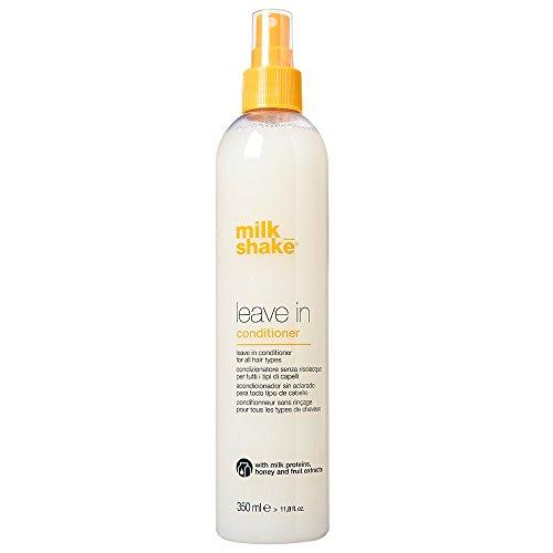 Milk shake leave in conditioner 350 ml balsamo condizionatore spray senza risciacquo per tutti i tipi di capelli con estratto di fragola e Integrity 41 formato 350ml