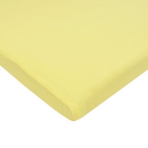 American Baby Company 100% Natural Cotton Supreme Jersey Knit Fitted Cradle Sheet, Maize, Soft Breathable, for Boys and Girls