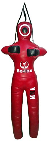 Bestzo MMA Jiu Jitsu Judo Sacco da Boxe Grappling Dummy Rosso in Piedi Posizione Tela- 48 Pollici