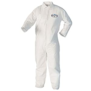 Kleenguard A40 Liquid & Particle Protection Coveralls (37686), Zip Front, Open Wrists & Ankles, White, XL, Vending Machine Ready