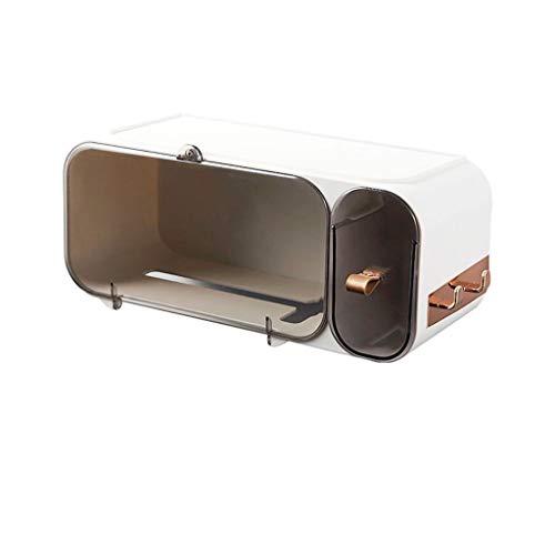 Afairy Soporte de Toalla de Papel Impermeable Tenedor de Papel higiénico Papel de Papel montado en la Pared Soporte para el hogar (Color : B)