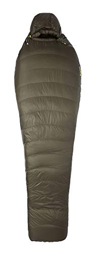 Marmot Unisex-Adult Phase 30 Long Mumienschlafsack, extra lang, utlra-Leichter und Warmer Daunenschlafsack, 850er Gänsedaunenfüllung, ideal zum Camping und Trekking, Nori, 198 cm