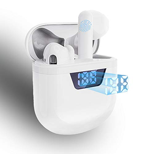 Wireless Earbuds Earphones in-Ear, Bluetooth 5.2 Headphones Mic Touch Control Sports Stereo Ear Buds Fast Charging Earbuds Compatible with Android/Airpods-White
