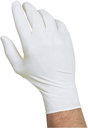SAFE GUARD Nitrile Gloves, Powder Free, Disposable Gloves, White Color Gloves, Latex Free, 100 Pcs, Single Use, Ambidextrous (L)