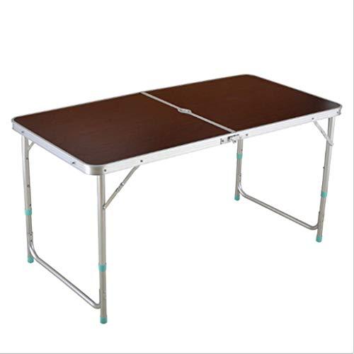 QTQZDD mobiele computertafel 1,2 m klaptafel - rechthoekig - Super Tough, in hoogte verstelbare lift met drie snelheden, klaptafel voor picknick buiten (kleur: rood) 4 4