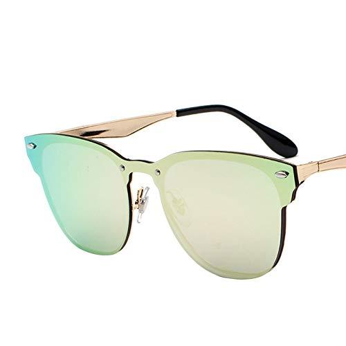 Gafas de Sol Caja De Gafas De Sol con Protección UV Personalidad Integrada Gafas De Sol Sin Bordes Que Conducen Gafas De Sol Coloridas protección para los Ojos (Color : D)