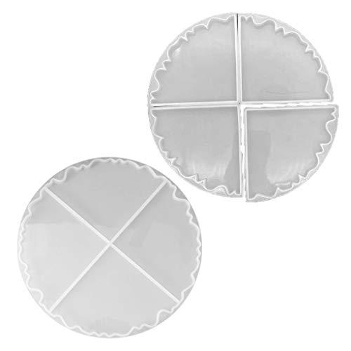 ZJL220 - Juego de 2 moldes de silicona para hornear irregulares, para tazas, tazas, tapete, resina epoxi y geoodo, ágata, cortador de moldes de arte, artesanía, herramienta