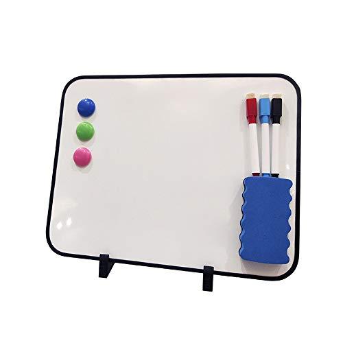 Luqifei Whiteboard Dry Erase Mini Whiteboard Tragbares for Kinder Studenten Kinder und persönlichen Gebrauch Hinweis Memo Planer White Board (Color : AS Shown, Size : 28x28x35cm)