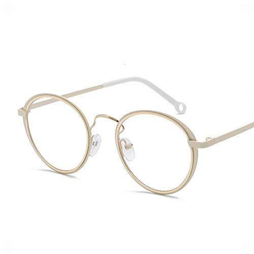 LUGJ Optische glazen, bescherming van de ogen licht mannen en vrouwen vlakke glazen bril, rond gat, anti-vermoeidheid van de ogen, straatglazen, mode