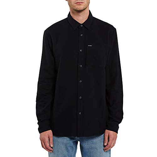 Volcom Caden Solid L/S T-Shirt à Manches Longues pour Homme L Noir