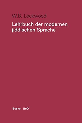 Lehrbuch der modernen jiddischen Sprache, Lehrbuch