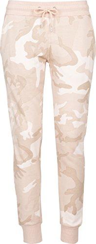 Urban Classics Damen Ladies Terry Pants Sporthose, Mehrfarbig (Rose camo 01218), W29(Herstellergröße: L)