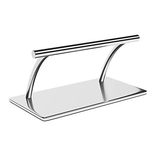 physa Reposapiés Para Sillón De Peluquería PHYSA FR-4 (Fabricado en acero inoxidable, Altura: 17,5 cm, Ancho 35 cm, Perfil redondo)