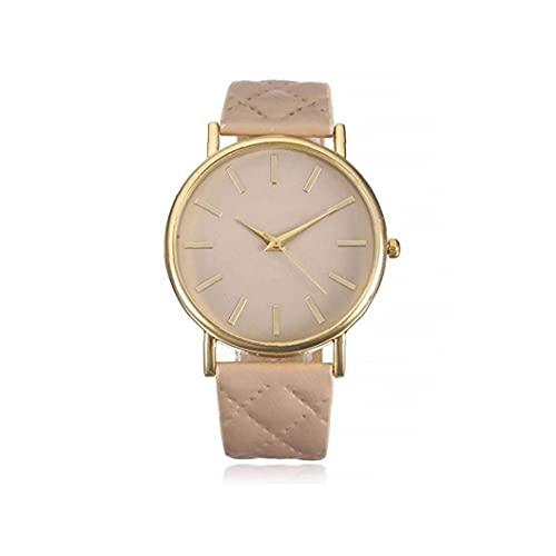 Unisex reloj de cuarzo analógico reloj con cuero Brazalete diseñado simple Reloj Casual reloj Hombres Mujeres, correa de reloj de cuero