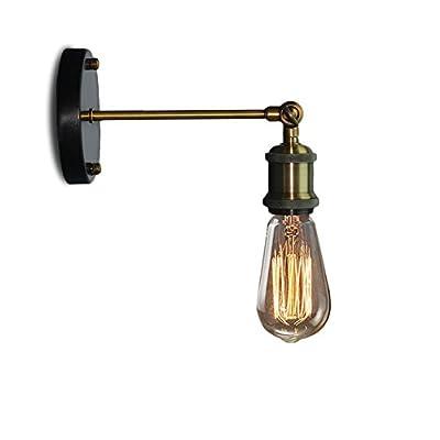 Xundi Loft Vintage Flush Mount Copper Wall Sconce Lamp Industrial Retro Edison Rustic Light Metal Lamp