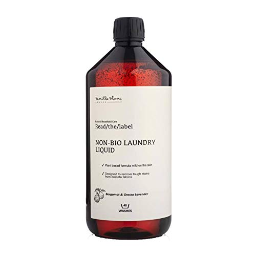 Vanilla Blanc Read/The/Label Non-Bio Laundry Liquid Scented with Organic Essential Oils (Bergamot & Grosso Lavender)