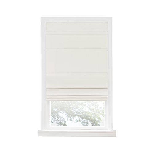 Achim Home Furnishings Achim Home Imports Cordless Blackout Window Roman Shade, 31' x 64', Ivory