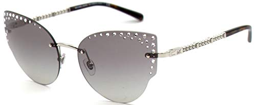 Michael Kors 0MK1058B Occhiali, Silver/Grey Shaded, 57 Donna