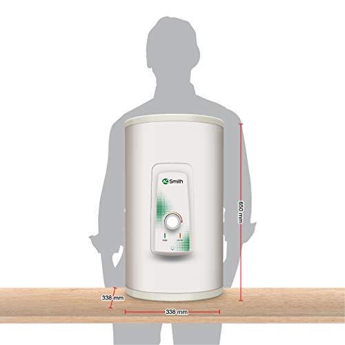 AO Smith HSE-VAS-X-025 Storage 25 Litre Vertical Water Heater (Geyser) White 5 Star