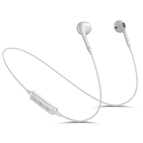 Bluetooth Kopfhörer V4.1 Wireless Kopfhörer In Ear Bluetooth mit Mikrofon schweißfeste Sport Kopfhörer Bluetooth für Joggen Laufen,Stereo Bluetooth Headset für alle Bluetooth Geräte (weiß)