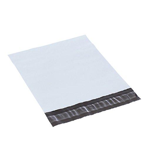 XSY Bianco Poly Mailer Busta Non-imbottito Buste Plastica Sacchetti per Postale e Spedizione Vari Taglia e Quantità 250 x 340mm+45mm - 10 Pezzi