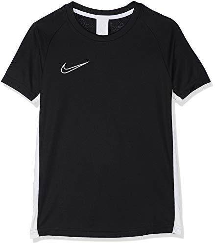 Nike B NK Dry ACDMY Top SS T-Shirt Garçon, Black/White/(White), FR : L (Taille Fabricant : L)