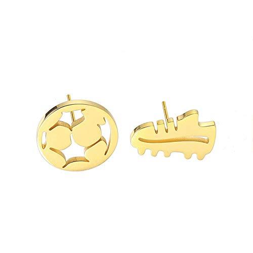 Beydodo Edelstahl Ohrringe Stecker Gold Schuh und Fußball Ohrringe Charms Modeschmuck