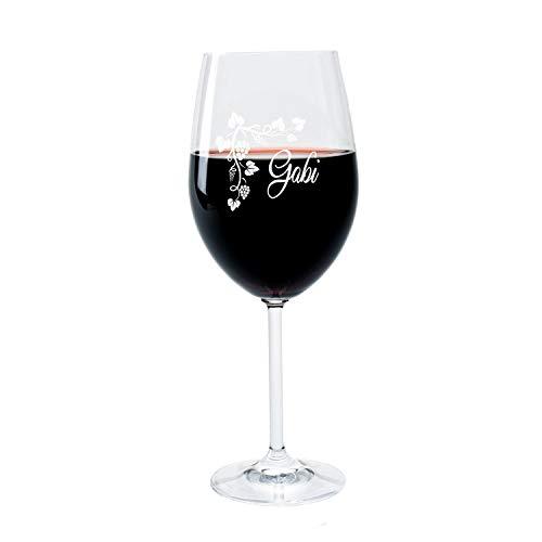 LEONARDO FORYOU24 Weinglas mit Gravur des Namens und Motiv Weinranke Wein-Glas graviert