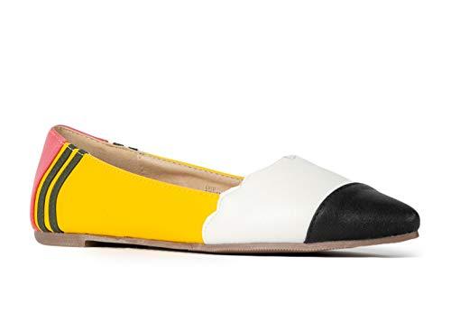 J. Adams Cute Pointed Toe Pencil Flats – Adorable Fun Comfortable Slip On – Classic Casual Closed Toe Walking Shoes - Lulu