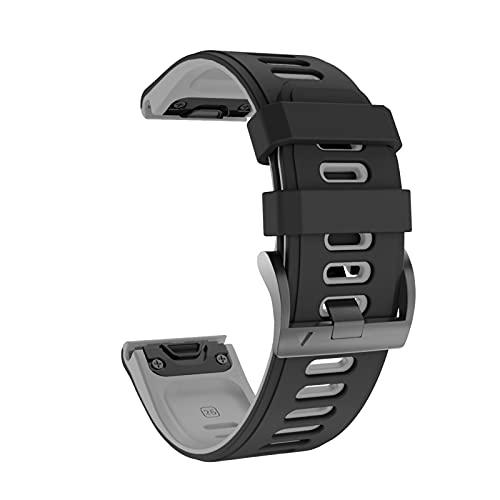 PAZHOU Cinturino in Silicone da 26mm per Fenix 6X 5X. Sport Silicone Watch Bands con Cinturino a sgancio rapido per Fenix 5X 3 3 Ore (Band Color : Black, Band Width : 26mm)