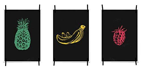 myprinti® Keukenafbeeldingen, posters, afbeeldingen voor de keuken, keukenposter, kunstdruk, moderne wanddecoratie, keuken decoratie, ananas, bananen, braambes