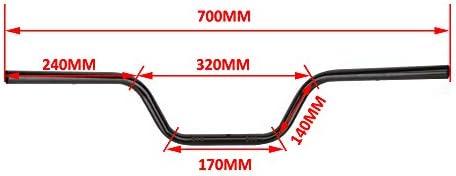 7//8 22MM Drag Handlebars Tracker Handle Bars Universal For Harley Sportster XL 883 1200 Bobber Custom Chopper Softail Dyna Euro Style Black