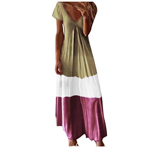 Dresses Women's Casual Sleeveless Deep V Neck Camisole Print Maxi Tank Long Dress Brown
