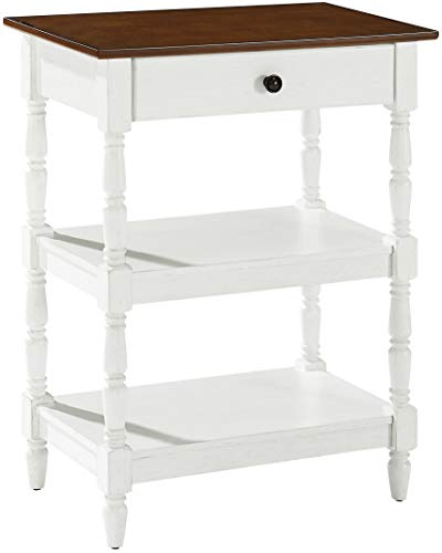 Crosley Furniture Heidi Rustic Accent Table, Distressed White