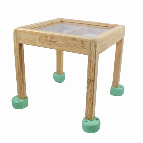 Little Balance Box: Baby Walker, Sit to Stand, Push Toy, Learning to Walk Assistant, Toddler Standing Activity Table, Boy, Girl, Award-Winning, 2-in-1 (Green)