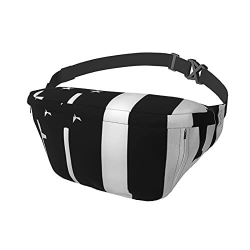 Bolsa deportiva para el pecho, bandolera, bandera, color negro, moda, para viajes, gimnasio, deporte, senderismo, ciclismo, para hombres y mujeres