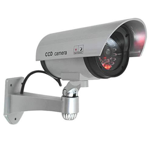 SYGA CCTV Security Fake/Dummy Camera Outdoor Bullet Camera with 1 Flashing Light