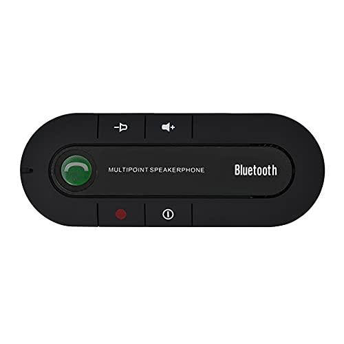 iSpchen Altavoz Para Visera de Coche, Cargador de Coche Kit de Altavoz Receptor Inalámbrico Bluetooth Para Coche Con Función de Manos Libres Kit de Altavoz Inalámbrico Para Visera Solar