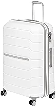 Samsonite Freeform Hardside Expandable with Double Spinner Wheels White Checked-Large 28-Inch