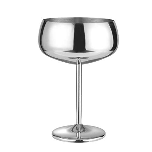 WxberG Copas de vino de acero inoxidable irrompibles, juego de copas de vino de acero, juego de 2, 15 onzas de cobre vino, ideal para eventos al aire libre, picnic (color gris)