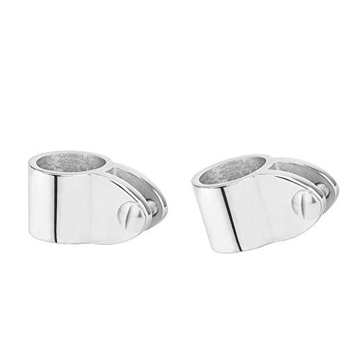 Shiwaki 2X Edelstahl Rohrschelle Rohrclip für Φ 25mm Rohre, geeignet für Bimini-Top, Korrosionsschutz