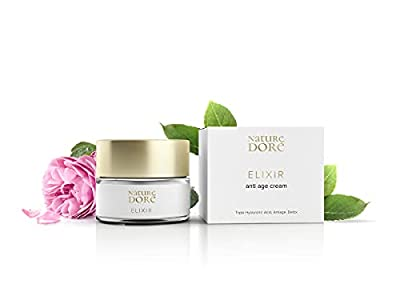 Antiwrinkles Face Cream with Lifting Effect - Anti-Ageing Moisturiser with 3 Hyaluronic Acid (high, low & medium molecular weight) - Detox Face Cream with Algae Extract & Rose Water.Bio by Nature Dore